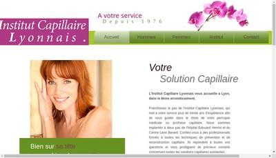 Site internet de ICL Institut Capillaire Lyonnais