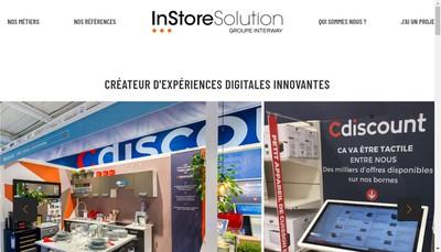 Site internet de Instore Solution