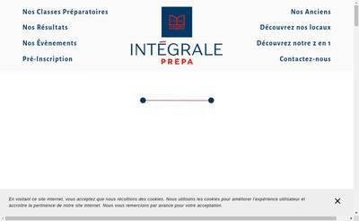 Site internet de Integrale Prepa