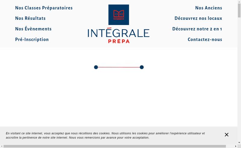 Capture d'écran du site de Integrale Prepa