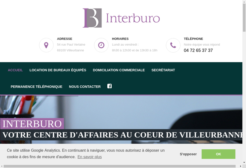Capture d'écran du site de Interburo