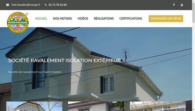 Site internet de Inter Facades