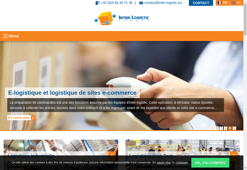 Capture d'écran du site de Inter Logistic Europe