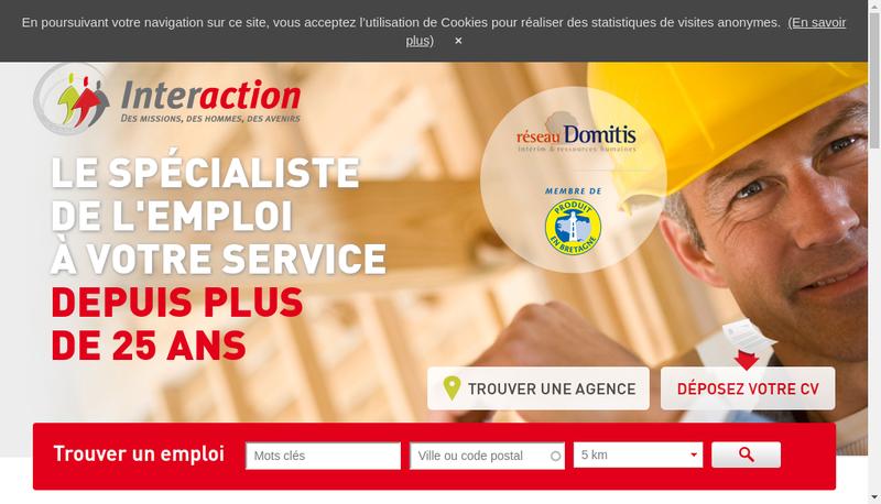 Capture d'écran du site de Interaction Haute Normandie