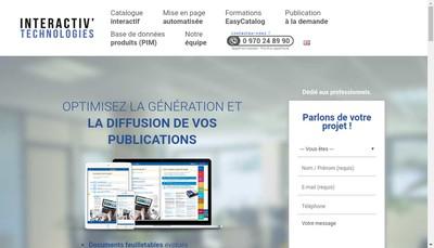 Site internet de Interactiv'Technologies