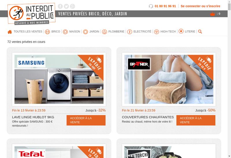 Capture d'écran du site de Interdit au Public