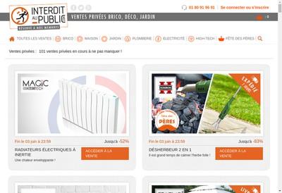 Site internet de Interdit au Public