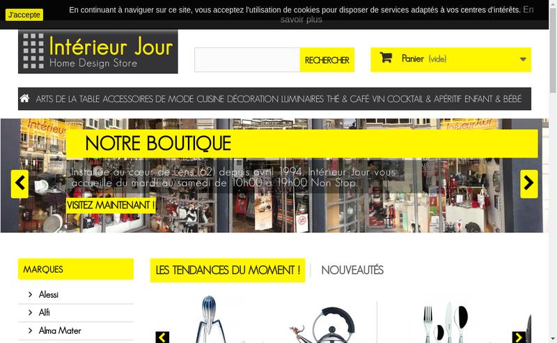 Capture d'écran du site de Interieur Jour