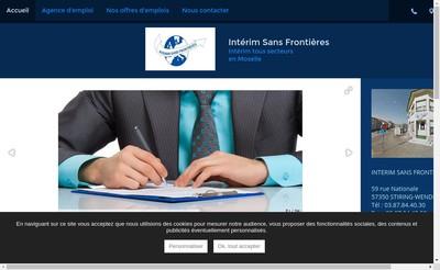 Site internet de Interim Sans Frontieres