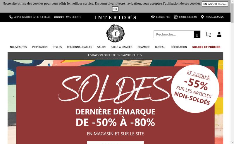 Capture d'écran du site de Interior'S