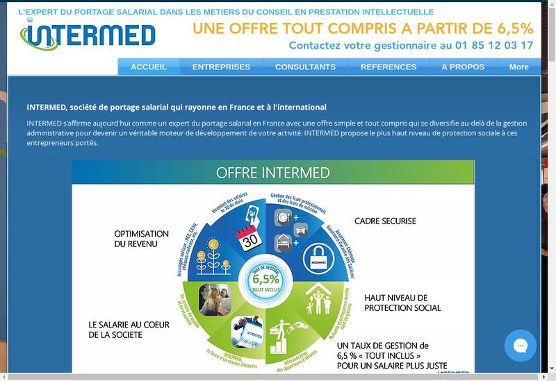 Capture d'écran du site de Intermed It Portage