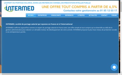 Site internet de Intermed It Portage