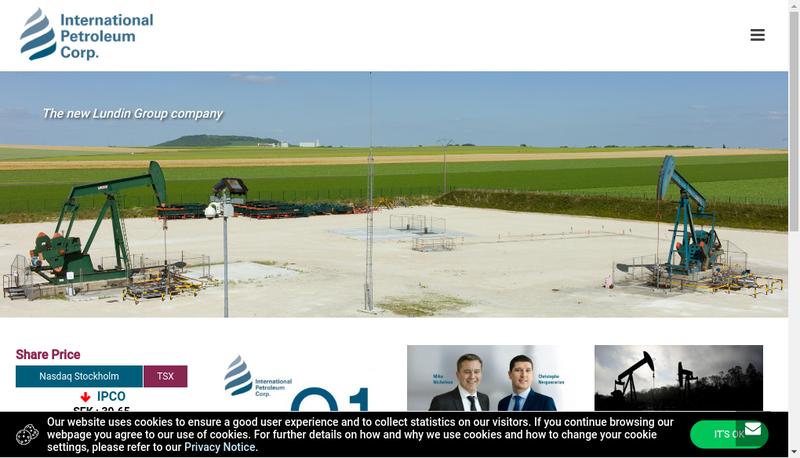 Capture d'écran du site de Ipc Petroleum France