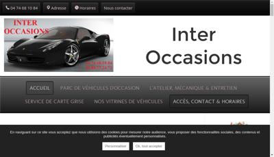 Capture d'écran du site de Inter Occasions