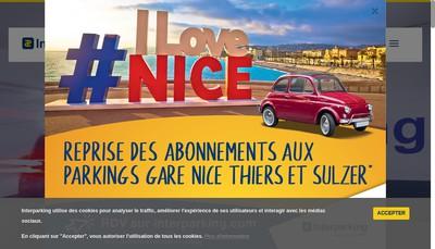Site internet de Interparking France