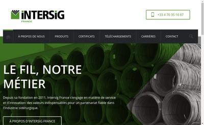Site internet de Intersig France