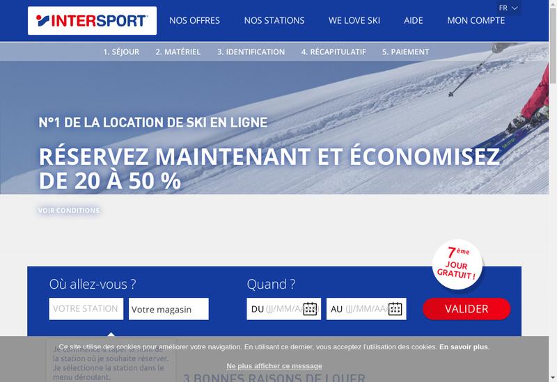 Capture d'écran du site de Interportrent Intersportavoyages Inter