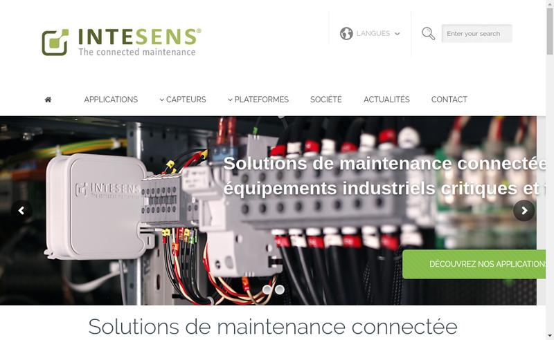 Capture d'écran du site de Intesens