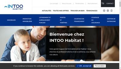 Site internet de Intoo Habitat
