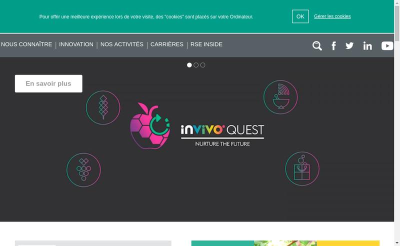 Capture d'écran du site de Bioline Group