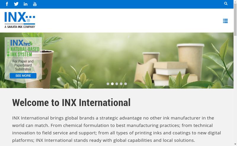 Capture d'écran du site de Inx International France SAS