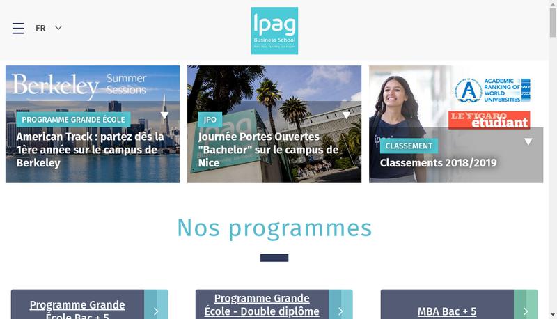 Capture d'écran du site de Inst Prep Adm Gestion Entreprises