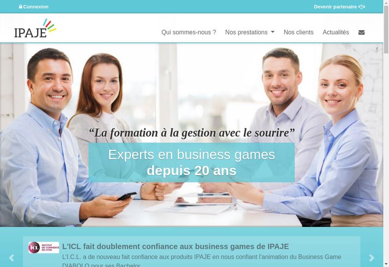 Capture d'écran du site de Ingenierie Pedagogie Act Jeux Entrepr