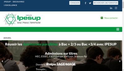 Site internet de Groupe Ipesup