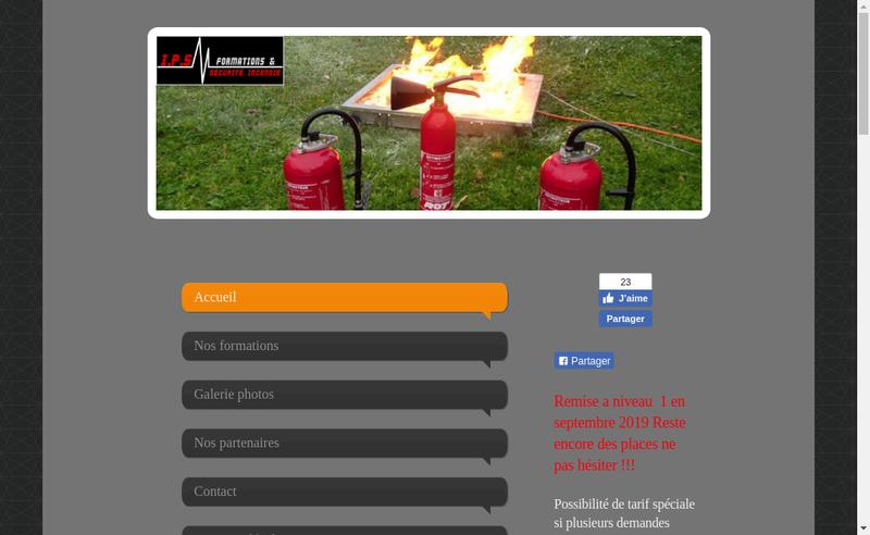 Capture d'écran du site de Alan Cornet