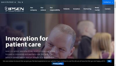Site internet de Ipsen Pharma