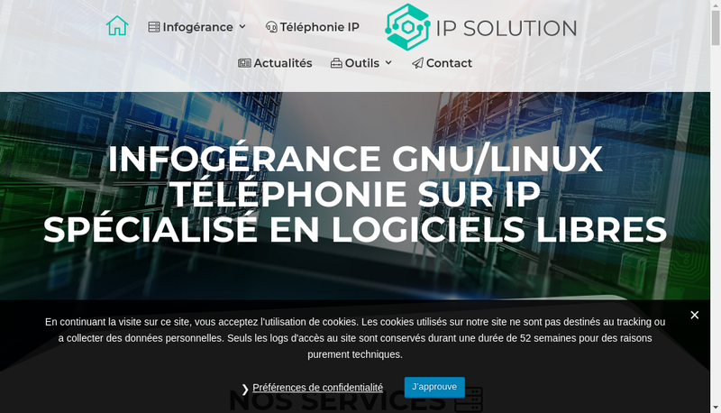 Capture d'écran du site de Ip Solution