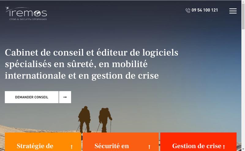 Capture d'écran du site de Iremos