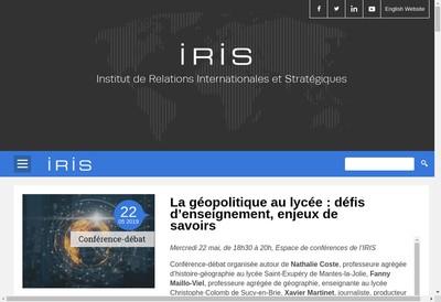 Site internet de Institut Relations Int Strategiques