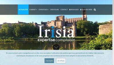 Site internet de Irisia
