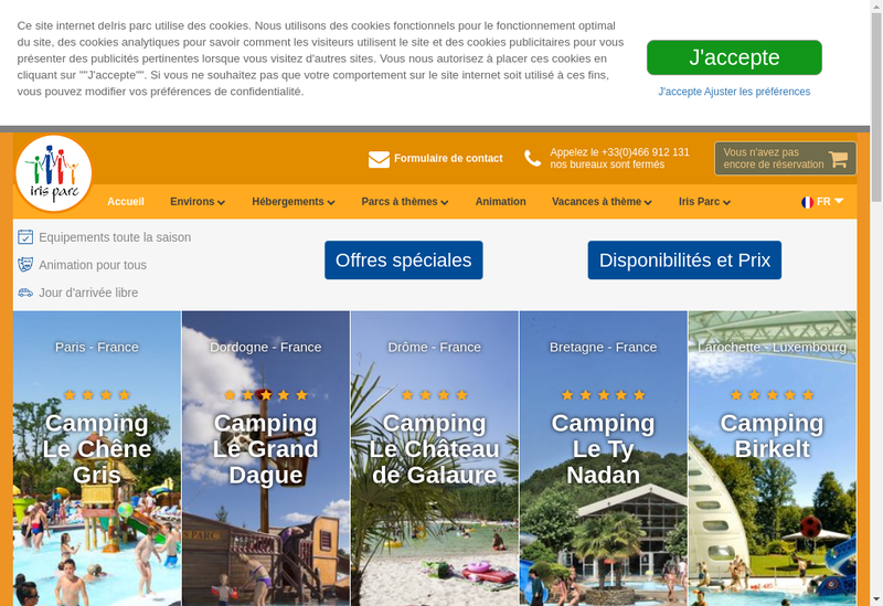 Capture d'écran du site de Chateau de Galaure