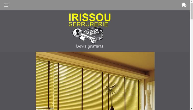 Capture d'écran du site de Irissou Serrurerie