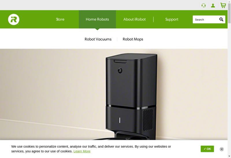 Capture d'écran du site de Robopolis