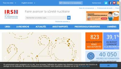 Site internet de Instit Radioprotection Surete Nucleaire