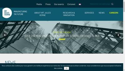 Site internet de Institut de Recherche Technologique Jules Verne