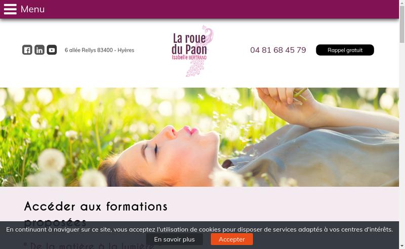 Capture d'écran du site de La Roue du Paon