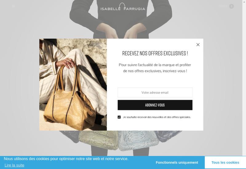 Capture d'écran du site de Isabelle Farrugia SAS