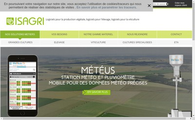 Site internet de Groupe Isagri Media