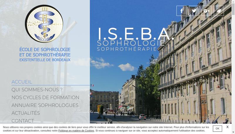 Capture d'écran du site de Ecole Sophro Sophrotherapie Existent