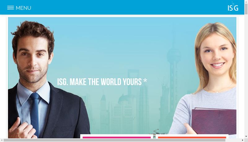 Capture d'écran du site de ISG