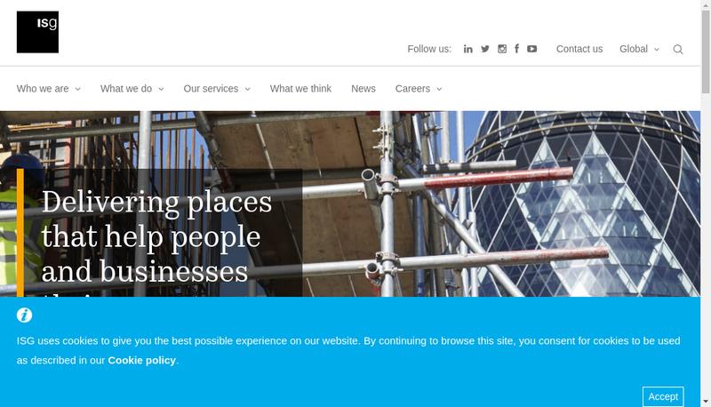 Capture d'écran du site de Isg Europe