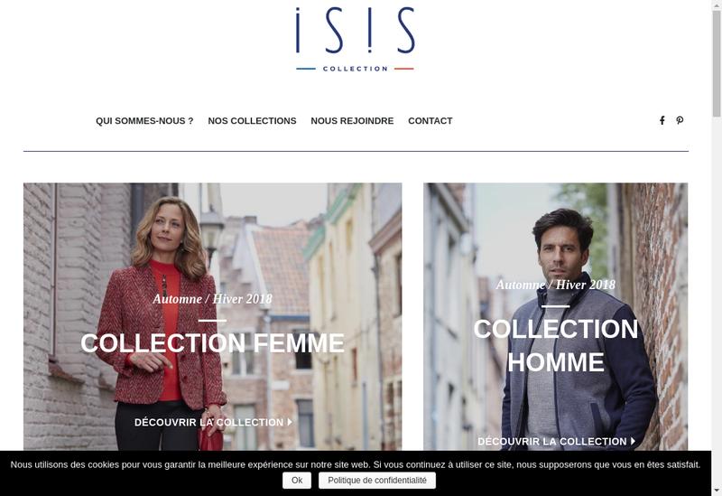 Capture d'écran du site de Jc Confection