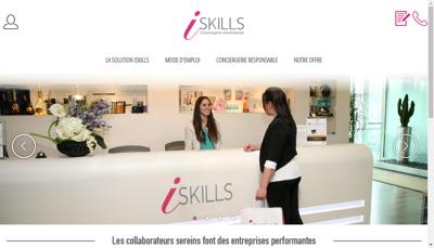 Capture d'écran du site de Iskills