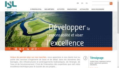 Site internet de ISL Ingenierie