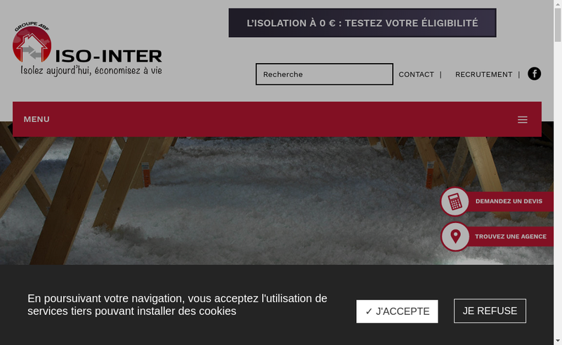 Capture d'écran du site de Iso Inter