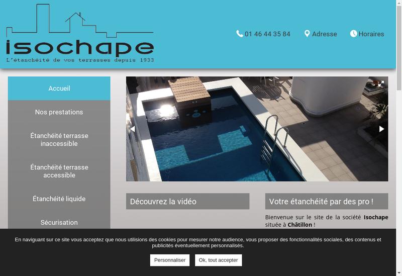 Capture d'écran du site de Societe Isochape
